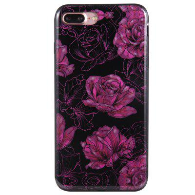 Case for iPhone 8 Plus Diamond Purple Rose Pattern Cellphone Protective Shell for iphone 7 plus 5 5 inch glossy tpu cellphone case with cartoon pattern bunny