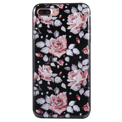 Case for iPhone 8 Plus Diamond Pink Rose Pattern Cellphone Protective Shell grid pattern handbag style silicone shell for iphone 6s plus 6 plus pink