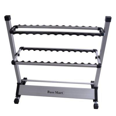 Fishing Rod Rack Up to 24 CasesFishing Tools and Accessories<br>Fishing Rod Rack Up to 24 Cases<br><br>Material: Aluminium<br>Package Contents: 1 x Fishing Rod Rack<br>Package size (L x W x H): 75.00 x 13.00 x 13.00 cm / 29.53 x 5.12 x 5.12 inches<br>Package weight: 2.7000 kg