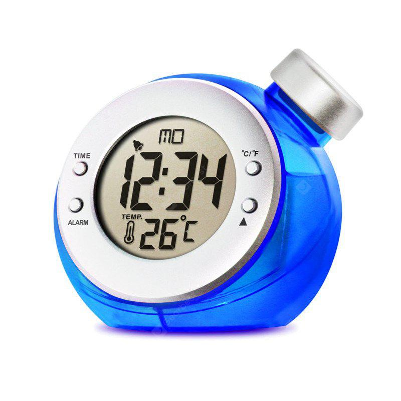 New Creative Water Powered Alarm Clock Magic Eco-friendly Ball Shape Smart Clock with Thermometer Home Decoration