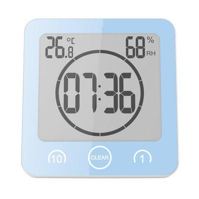 Digital Bathroom Clock Waterproof Shower Clock Suction Cups Countdown Alarm Timer Humidity Wall Digital ThermometerOther Consumer Electronics<br>Digital Bathroom Clock Waterproof Shower Clock Suction Cups Countdown Alarm Timer Humidity Wall Digital Thermometer<br><br>Color: Pink,Black,White,Blue,Green<br>Package Contents: 1 x Bathroom Wall Clock,  1 x English User Manual<br>Package size (L x W x H): 13.00 x 5.00 x 13.50 cm / 5.12 x 1.97 x 5.31 inches<br>Package weight: 0.2100 kg<br>Product size (L x W x H): 10.20 x 3.50 x 10.60 cm / 4.02 x 1.38 x 4.17 inches<br>Product weight: 0.1800 kg