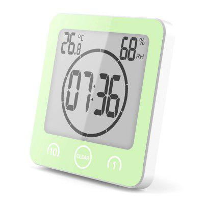 Digital Bathroom Clock Waterproof Shower Clock Suction Cups Countdown Alarm  Timer Humidity Wall Digital Thermometer