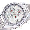 ZhouLianFa New Silver Dial with Diamonds Quartz Watch - SILVER