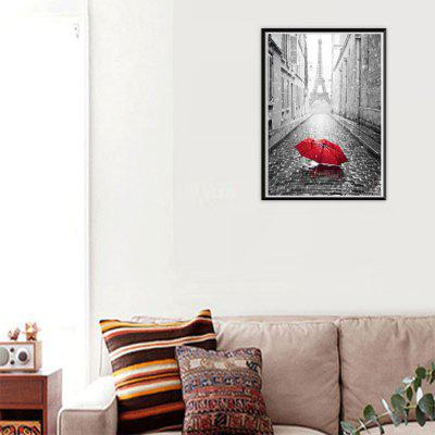 NAIYUE 9428 Eiffel Tower Red Umbrella Print Draw 5D Diamond Painting Diamond Embroidery eiffel tower