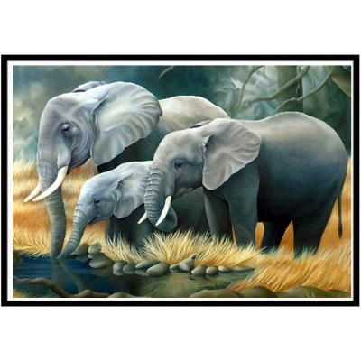 Buy NAIYUE J542 Elephant Print Draw 5D Diamond Painting Diamond Embroidery, GRAY, Home & Garden, Home Decors, Wall Art, Prints for $4.47 in GearBest store