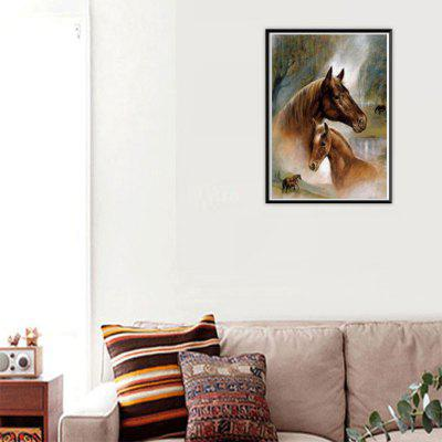 NAIYUE G013 Two Horses Print Draw 5D Diamond Painting Diamond Embroidery