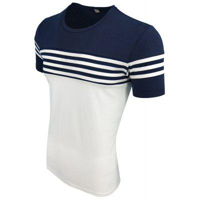 Mens Summer Round Collar Short Sleeved Striped Casual Fashion T-ShirtMens T-shirts<br>Mens Summer Round Collar Short Sleeved Striped Casual Fashion T-Shirt<br><br>Collar: Round Neck<br>Material: Cotton Blends<br>Package Contents: 1XT-shirt<br>Pattern Type: Striped<br>Sleeve Length: Short Sleeves<br>Style: Fashion<br>Weight: 0.2000kg