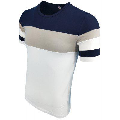 Mens Summer Round Collar Short Sleeves Splicing Fashionable Casual Fashion T-ShirtMens T-shirts<br>Mens Summer Round Collar Short Sleeves Splicing Fashionable Casual Fashion T-Shirt<br><br>Collar: Round Neck<br>Material: Cotton Blends<br>Package Contents: 1XT-shirt<br>Pattern Type: Patchwork<br>Sleeve Length: Short Sleeves<br>Style: Fashion<br>Weight: 0.2000kg