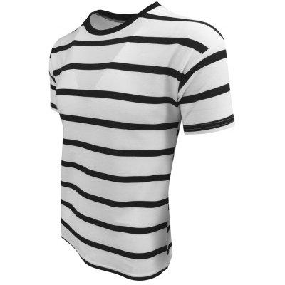 Mens Summer Short-Sleeved Simple and Comfortable Casual Fashion T-ShirtMens T-shirts<br>Mens Summer Short-Sleeved Simple and Comfortable Casual Fashion T-Shirt<br><br>Collar: Round Neck<br>Material: Cotton Blends<br>Package Contents: 1XT-shirt<br>Pattern Type: Striped<br>Sleeve Length: Short Sleeves<br>Style: Casual<br>Weight: 0.2000kg