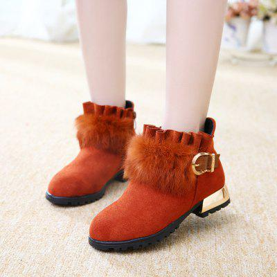 Autumn Winter Girls Kids Children Snow Boots jron mid calf genuine sheepskin leather woman shearling snow boots rubber sole anti slip function warm boots for winter autumn