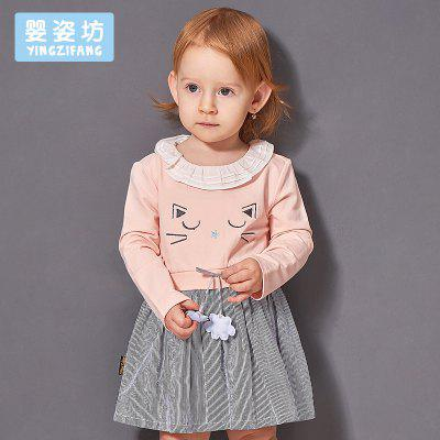 2017 Toddler Girls Baby Cute Long Sleeve Cotton Cartoon Cat Vertical Stripe Patchwork DressGirls dresses<br>2017 Toddler Girls Baby Cute Long Sleeve Cotton Cartoon Cat Vertical Stripe Patchwork Dress<br><br>Dresses Length: Knee-Length<br>Material: Cotton<br>Package Contents: 1 x Dress<br>Pattern Type: Character<br>Season: Spring<br>Silhouette: A-Line<br>Style: Cute<br>Weight: 0.2976kg<br>With Belt: No