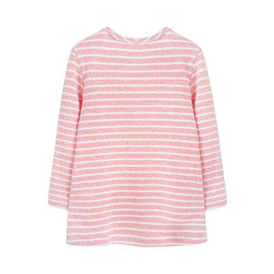 Autumn 2017 Little Girls Baby Casual Cotton Striped Cat Toddler Long Sleeve T-Shirt