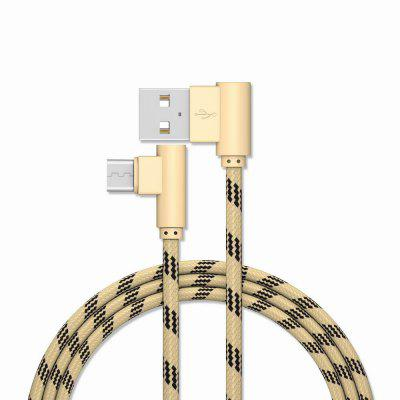 2M Android Cable Charge para Samsung, Xiaomi, HUAWEI, MEIZU, LG, HTC 90 grados para Oneplus 5t