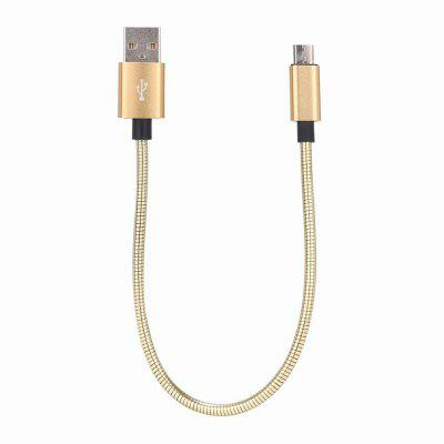 Metal Spring Charging Cable for Samsung,Xiaomi,HUAWEI USB Color Gradient Data for Android USB Charger