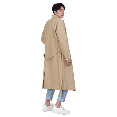 Solid Color Notched Lapel MenS long CoatMens Jackets &amp; Coats<br>Solid Color Notched Lapel MenS long Coat<br><br>Clothes Type: Trench<br>Colors: Black,Khaki,Army green<br>Decoration: Ribbons<br>Materials: Polyester<br>Package Content: 1?Coat<br>Package size (L x W x H): 1.00 x 1.00 x 1.00 cm / 0.39 x 0.39 x 0.39 inches<br>Package weight: 1.5000 kg<br>Pattern Type: Solid<br>Size1: M,L,XL,2XL,3XL<br>Sleeve Style: Regular<br>Style: Casual<br>Technics: Other<br>Thickness: Thin<br>Type: Slim