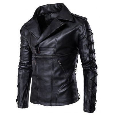 MenS Motorcycle Suit PU Coat Leather JacketMens Jackets &amp; Coats<br>MenS Motorcycle Suit PU Coat Leather Jacket<br><br>1800-B002: None<br>Clothes Type: Jackets<br>Collar: Turn-down Collar<br>Material: Faux Leather<br>Package Contents: 1?Jacket<br>Season: Spring, Summer, Fall, Winter<br>Shirt Length: Regular<br>Sleeve Length: Long Sleeves<br>Style: Streetwear<br>Weight: 0.8000kg