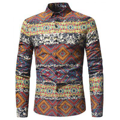 The New Spring Indian Wind Pattern Printing Mens Long Sleeve ShirtMens Shirts<br>The New Spring Indian Wind Pattern Printing Mens Long Sleeve Shirt<br><br>Collar: Turn-down Collar<br>Material: Cotton Blends<br>Package Contents: 1xShirt<br>Shirts Type: Casual Shirts<br>Sleeve Length: Full<br>Weight: 0.3000kg