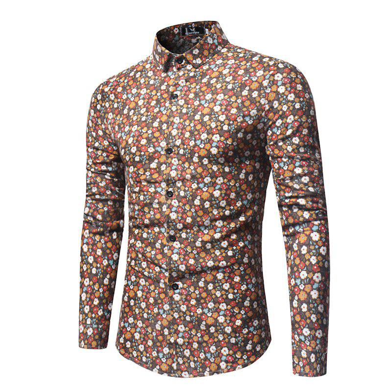 The New Hawaii Holiday Wind Floral Fashion Men'S Shirt