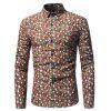 The New Hawaii Holiday Wind Floral Fashion Men'S Shirt - ORANGE WAVE POINT