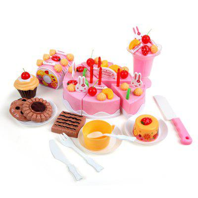 DIY Fruit Cake Cutting Pretend Play Toys Set 75PCSOther Educational Toys<br>DIY Fruit Cake Cutting Pretend Play Toys Set 75PCS<br><br>Age: 3 Years+<br>Applicable gender: Boys,Girls<br>Design Style: Other<br>Features: Educational, DIY<br>Gender: Boys,Girls<br>Material: ABS, Plastic<br>Package Contents: 1 x Set of Toys<br>Package size (L x W x H): 27.50 x 10.00 x 20.00 cm / 10.83 x 3.94 x 7.87 inches<br>Package weight: 0.5500 kg<br>Product weight: 0.4500 kg<br>Small Parts: Yes<br>Type: Pretend Play<br>Washing: No