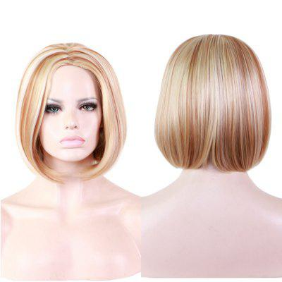 Hot Side Golden Long Straight Hair Fashion Beautiful Sexy Wig