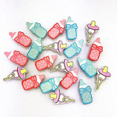 Pink Blue Baby Bottle Pacifier Wood Clip Photo Wall Decoration 20PCS