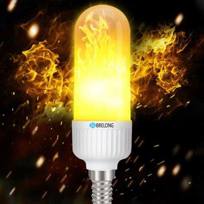 BRELONG E14 LED Flame Light Bulbs Flickering Emulation Lamps