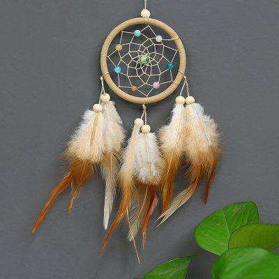 Indian Style Car Handmade Dream Catcher Net with Feathers Hanging Decoration Craft Gift for Home