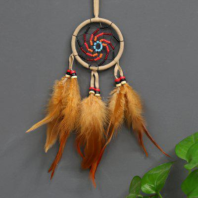 Car Handmade Dream Catcher Net with Feathers Hanging Decoration Craft Gift for Home Decoration