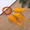 Beautiful Dream Catcher Handmade Dreamcatcher with Feathers for Home Wall Decorations Car Ornament - YELLOW