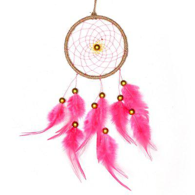 Dream Catcher Handmade with Pink Feathers for Home Wall Dreamcatchers Decorations Car OrnamentTapestries<br>Dream Catcher Handmade with Pink Feathers for Home Wall Dreamcatchers Decorations Car Ornament<br><br>Color: Pink<br>For: Lovers, Sisters, Brothers, Parents, Teachers, Friends, Student, Others<br>Material: Plastic, Others<br>Package Contents: 1 x  Dream Catcher<br>Package size (L x W x H): 13.00 x 11.00 x 2.00 cm / 5.12 x 4.33 x 0.79 inches<br>Package weight: 0.0350 kg<br>Subjects: People,Fashion,Others<br>Usage: Christmas, Birthday, Wedding, Party, Others, New Year