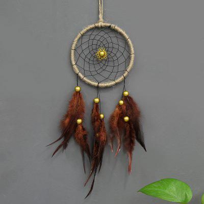 Antique Dreamcatcher Gift Handmade Dream Catcher Net With Feathers Wall Hanging Decoration Car Ornament