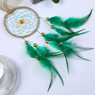 Dreamcatcher Gift Handmade Dream Catcher Net with Green Feathers Wall Hanging Decoration car OrnamentTapestries<br>Dreamcatcher Gift Handmade Dream Catcher Net with Green Feathers Wall Hanging Decoration car Ornament<br><br>Color: Others,Green<br>For: Lovers, Sisters, Brothers, Parents, Teachers, Friends, Student, Others<br>Material: Plastic, Others<br>Package Contents: 1 x  Dream Catcher<br>Package size (L x W x H): 13.00 x 11.00 x 2.00 cm / 5.12 x 4.33 x 0.79 inches<br>Package weight: 0.0350 kg<br>Subjects: People,Fashion,Others<br>Usage: Christmas, Birthday, Wedding, Party, Others, New Year