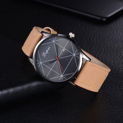 Lvpai P248 Men Analog Quartz Leather Band Wrist Watch with Date WindowMens Watches<br>Lvpai P248 Men Analog Quartz Leather Band Wrist Watch with Date Window<br><br>Band material: PU Leather<br>Band size: 26.4 x 2.4 cm<br>Case material: Alloy<br>Clasp type: Pin buckle<br>Dial size: 4.5 x 4.5 x 1 cm<br>Display type: Analog<br>Movement type: Quartz watch<br>Package Contents: 1 x Watch<br>Package size (L x W x H): 28.00 x 6.00 x 1.50 cm / 11.02 x 2.36 x 0.59 inches<br>Package weight: 0.0470 kg<br>Product size (L x W x H): 26.40 x 4.50 x 1.00 cm / 10.39 x 1.77 x 0.39 inches<br>Product weight: 0.0440 kg<br>Shape of the dial: Round<br>Watch mirror: Mineral glass<br>Watch style: Jewellery, Fashion, Casual<br>Watches categories: Women<br>Water resistance: Life water resistant