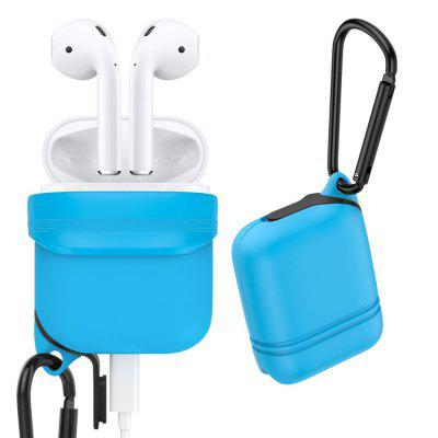 Silicone Waterproof Soft Cover with Dust Plug Shock Resistant Case for Apple AirPods leegoal tm armor combo silicone hybrid hard case cover with kickstand fit for apple ipod touch 5g with accessories sreen protector anti dust plug