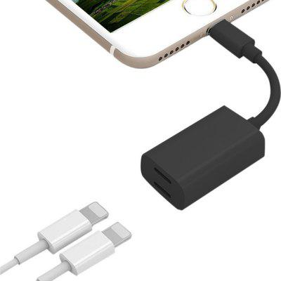8 Pin with Double 8 Pin Headphone Charge Adapter Dual 8 Pin Adapter Splitter for iPhone 7 / 8 / 8 Plus / XiPhone Cables &amp; Adapters<br>8 Pin with Double 8 Pin Headphone Charge Adapter Dual 8 Pin Adapter Splitter for iPhone 7 / 8 / 8 Plus / X<br><br>Features: ALL-in-1<br>Interface Type: 8 pin<br>Package Contents: 1 x Adapter<br>Package size (L x W x H): 20.00 x 5.00 x 2.00 cm / 7.87 x 1.97 x 0.79 inches<br>Package weight: 0.0130 kg<br>Product weight: 0.0070 kg<br>Type: Adapters
