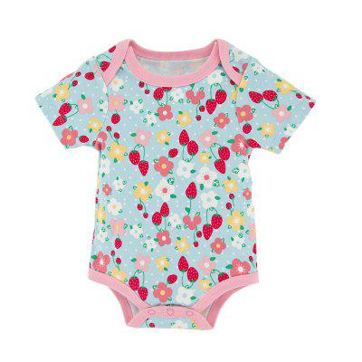Wuawua 2pieces a lot Baby Bodysuit Short Sleeve Cotton Print Flower Romperbaby rompers<br>Wuawua 2pieces a lot Baby Bodysuit Short Sleeve Cotton Print Flower Romper<br><br>Closure Type: Pullover<br>Collar: Round Neck<br>Gender: Girl<br>Material: Cotton<br>Package Contents: 2 x Bodysuit<br>Season: Summer<br>Sleeve Length: Short<br>Thickness: General<br>Weight: 0.1600kg
