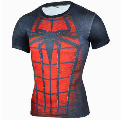Men's Daily Casual  Print Round Neck Short Sleeves Cotton T-shirt