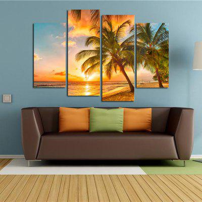 The Seaside Sunset Coconut Tree Parlour Decoration Painting Bedroom Painting