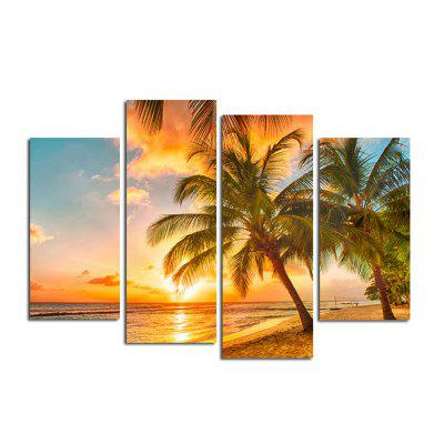 The Seaside Sunset Coconut Tree Parlour Decoration Painting Bedroom Painting gentleman in the parlour
