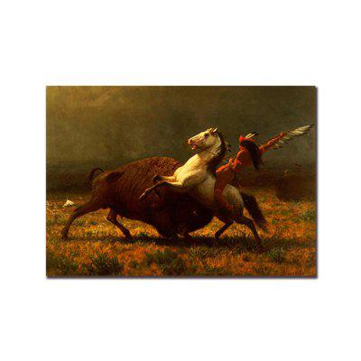 12425 Indian Horse Riding Hunting Parlour Decorative Painting Bedroom Painting gentleman in the parlour