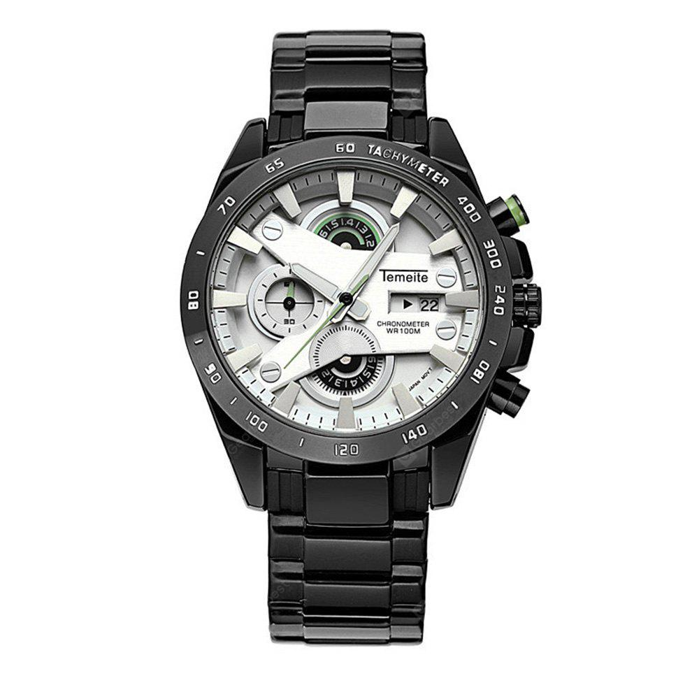 Men'S Quartz Watch Faddish Calendar Sports Style Watch Accessory