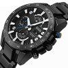 Men'S Quartz Watch Faddish Calendar Sports Style Watch Accessory - BLACK