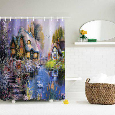 Oil Painting Town 3 Polyester Shower Curtain Bathroom  High Definition 3D Printing Water-ProofShower Curtain<br>Oil Painting Town 3 Polyester Shower Curtain Bathroom  High Definition 3D Printing Water-Proof<br><br>Package Contents: 1 x Shower Curtain , 1 x Set of Hooks<br>Package size (L x W x H): 26.00 x 18.00 x 3.00 cm / 10.24 x 7.09 x 1.18 inches<br>Package weight: 0.4000 kg