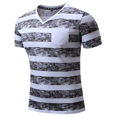 Summer Fashion Casual Color Striped Pure Cotton V-Neck T-ShirtMens T-shirts<br>Summer Fashion Casual Color Striped Pure Cotton V-Neck T-Shirt<br><br>Collar: V-Neck<br>Material: Cotton<br>Package Contents: 1xT-shirt<br>Pattern Type: Striped<br>Sleeve Length: Short Sleeves<br>Style: Fashion<br>Weight: 0.2000kg