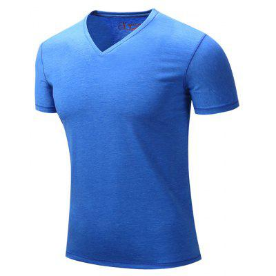 Fashionable Simple Leisure Net Color Pure Cotton V Neck Summer Short-Sleeved T-ShirtMens T-shirts<br>Fashionable Simple Leisure Net Color Pure Cotton V Neck Summer Short-Sleeved T-Shirt<br><br>Collar: V-Neck<br>Material: Cotton Blends<br>Package Contents: 1xT-shirt<br>Pattern Type: Solid<br>Sleeve Length: Short Sleeves<br>Style: Casual<br>Weight: 0.2000kg