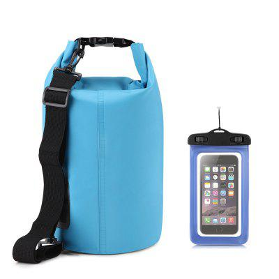 10L Waterproof Gear Storing Dry Bag and Floating Waterproof Phone Case for Swimming Kayaking Rafting Boating Camping