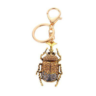 Gold Alloy Key Chain Keyring Metal Adjustable