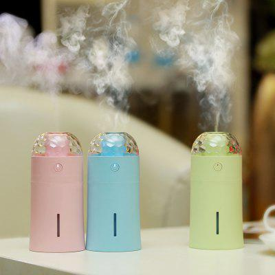 USB Mini Humidifier with Colorful Projector LampNight Lights<br>USB Mini Humidifier with Colorful Projector Lamp<br><br>Certifications: CE,RoHs,FCC<br>Color Temperature or Wavelength: red 620nm,green 555nm,blue 440nm<br>Connector Type: USB<br>Features: Color-changing, Decorative<br>Light Source Color: Multi Color<br>Light Type: LED,Night Light,LED Night Light,Decoration Light<br>Package Contents: 1 x product ,1 x USB line, 1x filter , 1 x manual<br>Package size (L x W x H): 6.70 x 6.70 x 15.30 cm / 2.64 x 2.64 x 6.02 inches<br>Package weight: 0.1850 kg<br>Power Source: USB charging<br>Product size (L x W x H): 6.60 x 6.60 x 14.50 cm / 2.6 x 2.6 x 5.71 inches<br>Product weight: 0.1450 kg<br>Quantity: 1<br>Style: Comtemporary<br>Wattage: 1.5W