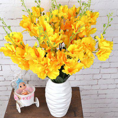 Artificial Flowers Vivid Yellow Gladiolus Bouquet Inicio Pantalla decorativa